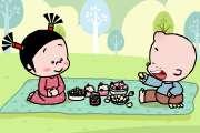 小破孩2018年4月壁纸-清明野餐