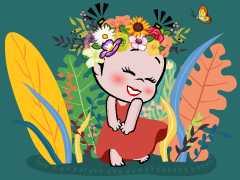 小破孩2020年3月壁纸-花仙子