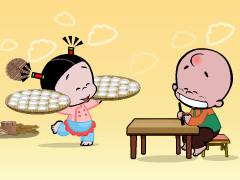 小破孩2020年11月壁纸-吃饺子