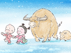 小破孩2021年2月壁纸-牛年放牛