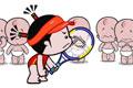 小破孩微动画-祝贺李娜打了个好球!