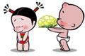 小破孩微动画-情人节,七夕,送玫瑰花不如送菜花!